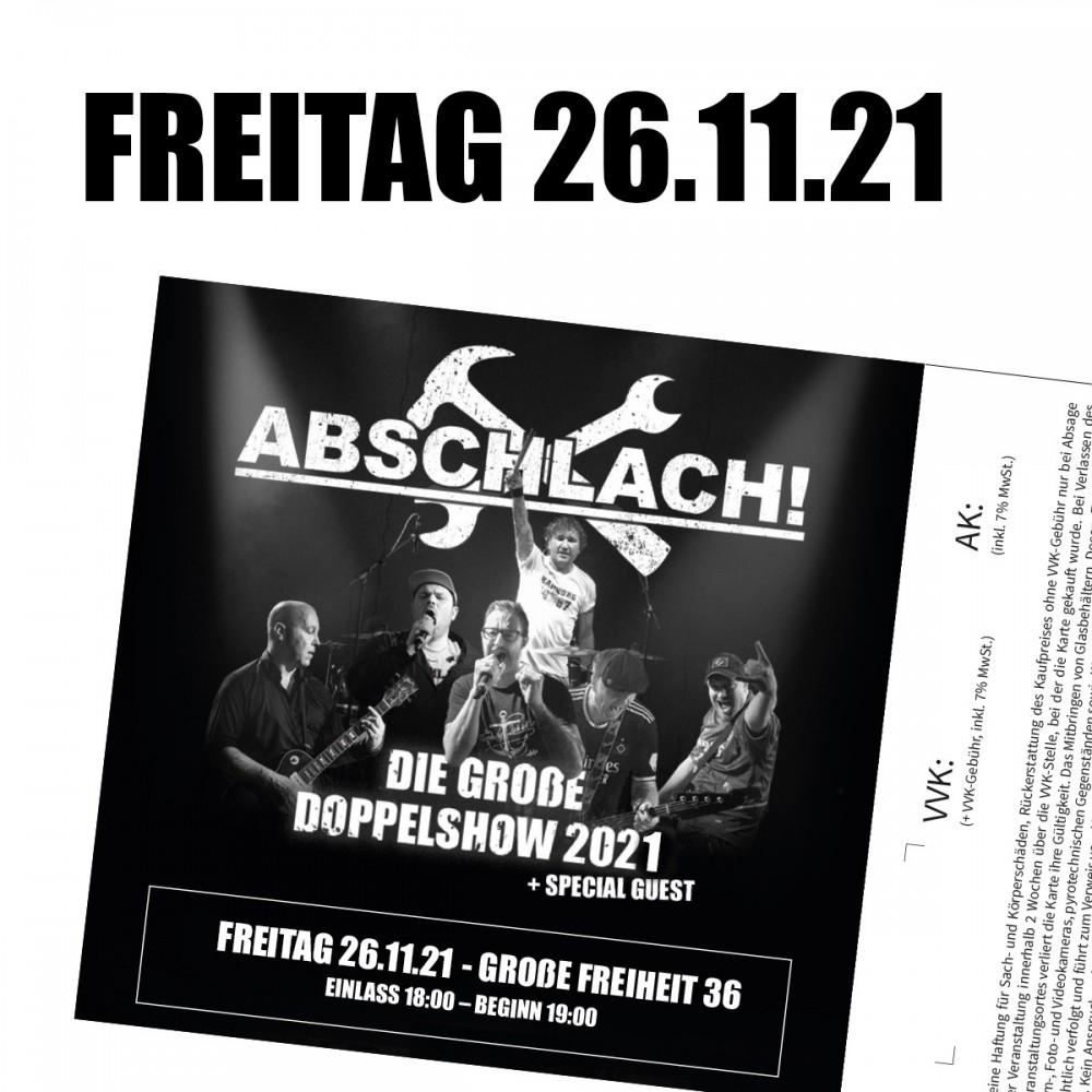 Ticket Große Freiheit 36 - 26.11.2021 (inkl. 10% VVK-Gebühr)